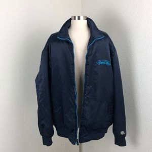 Rocawear dark blue varsity bomber jacket